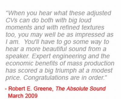 nice review von Robert E. Greene aus der Absolute Sound March 2009 .