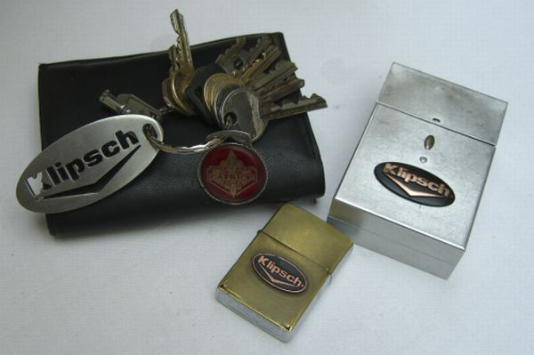 Klipsch Keyholder , Chevrolet Keys , Zippo Lighter & Cigarillo Package