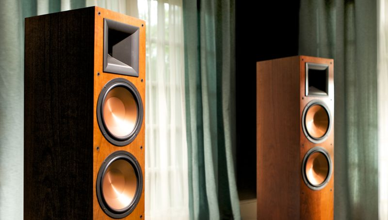 "HEIGHT 48.5"" (123.3cm) with feet-klipsch-reference-rf7-II"